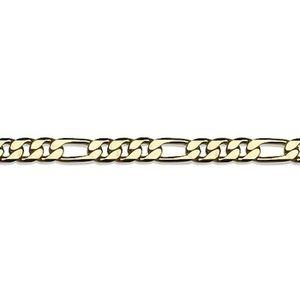CHAINE DE COU SEULE Chaîne plaqué or maille alternée plate 3+1 50cm -