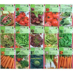 GRAINE - SEMENCE Lot de 20 paquets graines légumes jardin ouvrier p