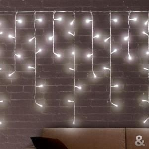 GUIRLANDE LUMINEUSE INT Lumières Blanches de Noël Stalactite (200 LED)