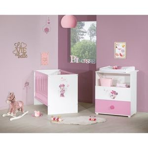 TABLE À LANGER MINNIE Duo Commode à langer et lit bébé 60x120 cm