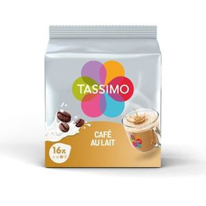 CAFÉ Tassimo Café au Lait en dosettes - lot de 5*16