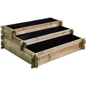 CARRÉ POTAGER - TABLE Carré potager en bois à étages - Petit modèle