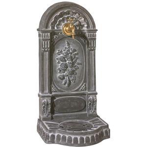 FONTAINE DE JARDIN Fontaine Aux Roses grise en fonte