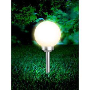 LAMPE DE JARDIN  Globo Lighting Globe solaire - Plastique gris méta