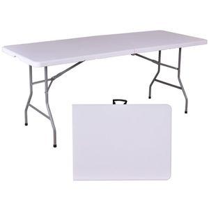table pliante resine achat vente pas cher. Black Bedroom Furniture Sets. Home Design Ideas
