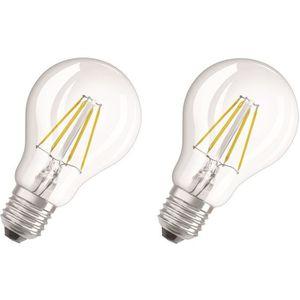 AMPOULE - LED OSRAM Lot de 2 Ampoules LED E27 standard claire 4W