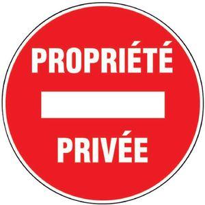 CONE - RUBAN CHANTIER Panneaux de signalisation ronds Outibat Propriété