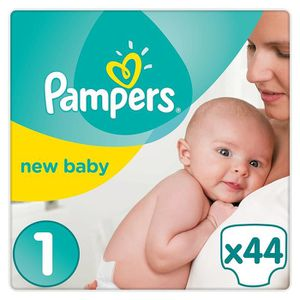 COUCHE Pampers New Baby Taille 1 2-5 kg, Lot de 2 (2 x 44