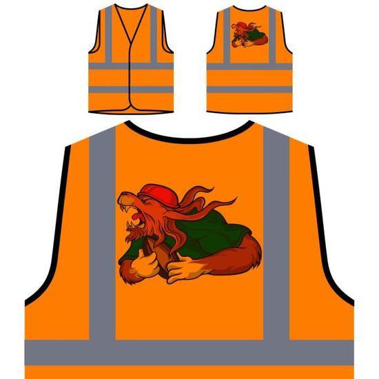 Personnalisée De Protection Orange Veste À Haute Visibilité FqBPww