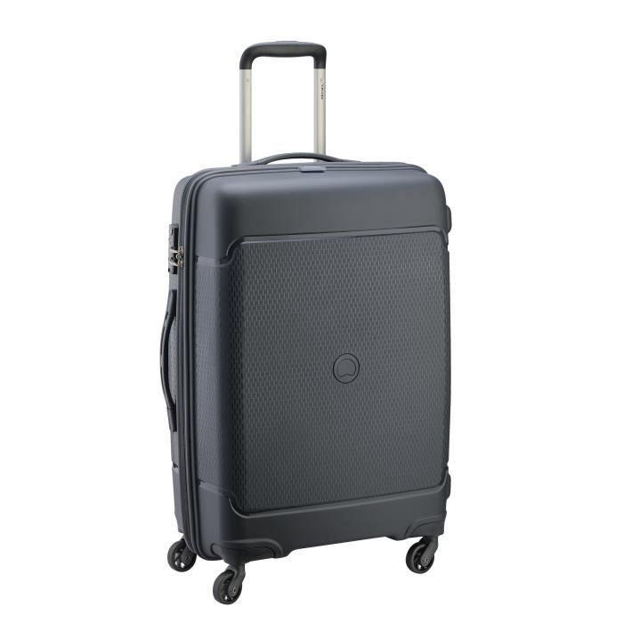 visa delsey valise trolley rigide polypropyl ne 4 roues 66cm sejour anthracite novembre. Black Bedroom Furniture Sets. Home Design Ideas