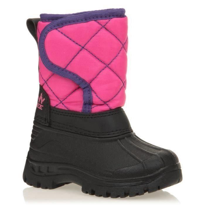 Chausssures après-ski avec tige en synthétique, noir et rose, semelle extérieure 100% TPR.APRES-SKI - SNOWBOOT - BOOTS DE SKI