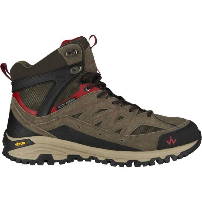 932f6d27e0a WANABEE Chaussures de randonnée Trek 400 Mid Wp - Homme - Prix pas ...