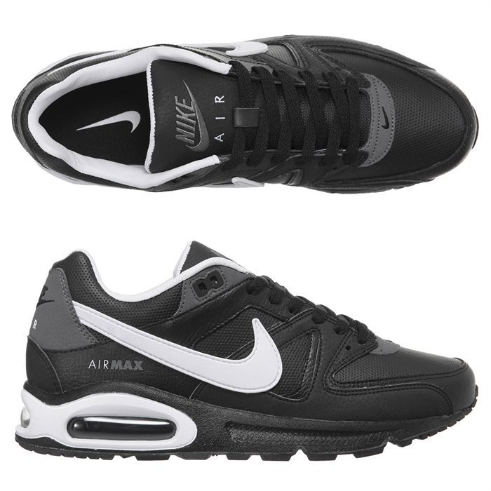 NIKE Baskets Air Max Command Leather Homme Noir - Achat ...