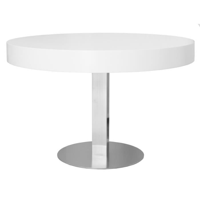 Table a manger ronde blanc laque - Achat / Vente Table a manger ...