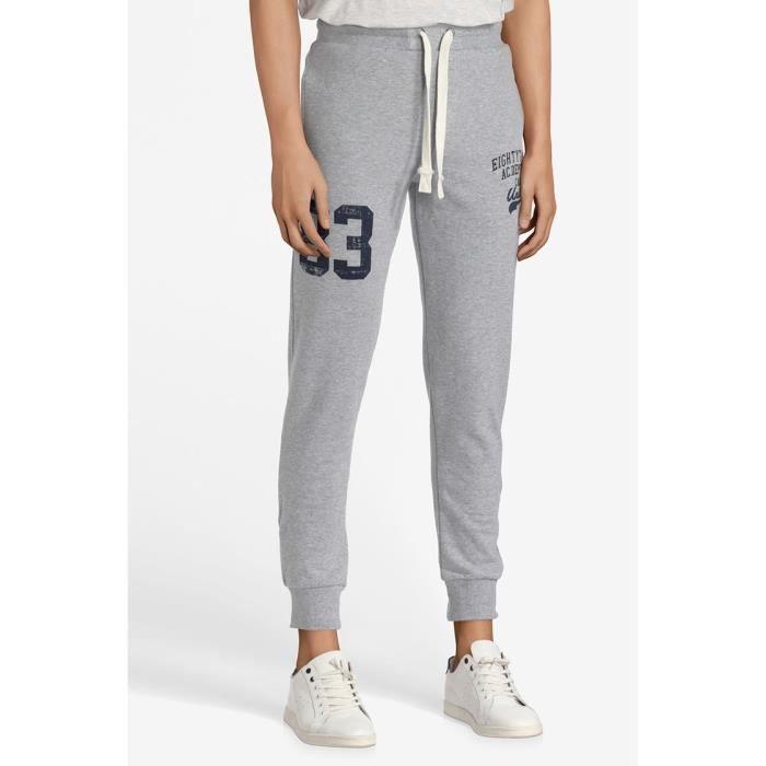 CAMPS Pantalon Molleton Jogging - Homme - Gris chiné Gris chiné ... 7b2971ba7c2f