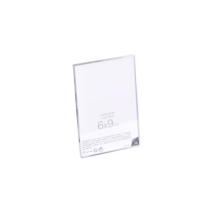 Matière : polystyrène - Dimensions : 6x9 cm - Coloris : transparentCADRE PHOTO