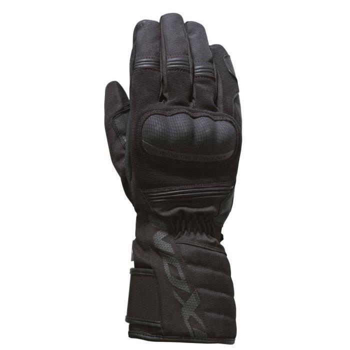 IXON Gant de moto Pro Tenere - Noir.Homologué EPI (loi du 20/11/2016)
