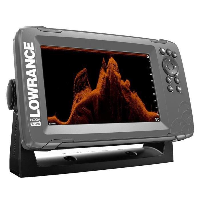 LOWRANCE Sondeur Hook²-7X GPS + Sonde TA 2D/Downscan
