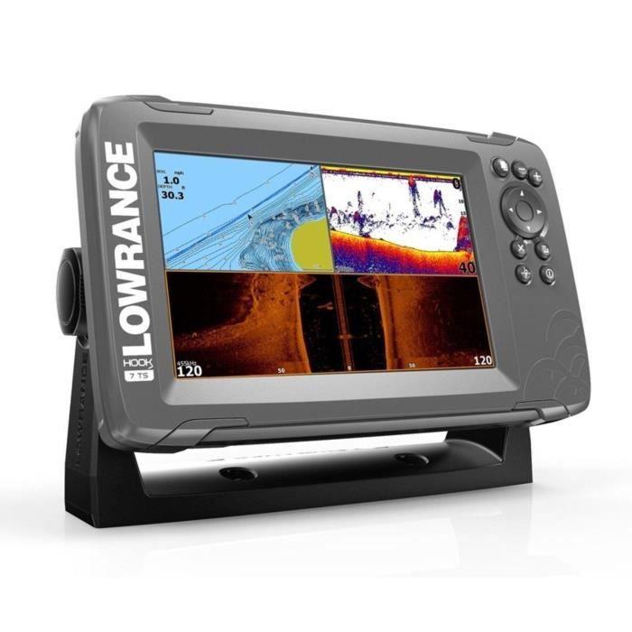 LOWRANCE Combiné GPS Sondeur Hook²-7 + Sonde TA 2D/DS/SC