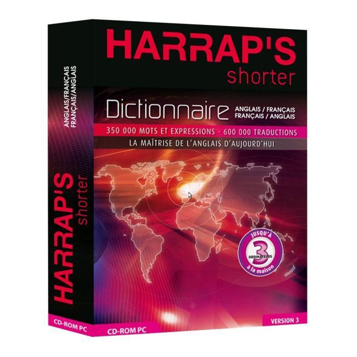 Riche de 600 000 traductions, le Harrap's Shorter est un titre phare de la gamme Harrap. Il doit sa renommée à l'étendue, la variété, la modernité de son vocabulaire et à la richesse des expressions de mise en situation. Sa version électronique permeLOGIC