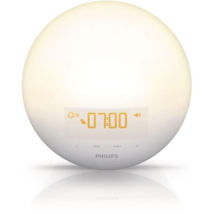 PHILIPS HF3510/01 Réveil Luminothérapie - Simulation de lever du soleil - 3 sons naturels