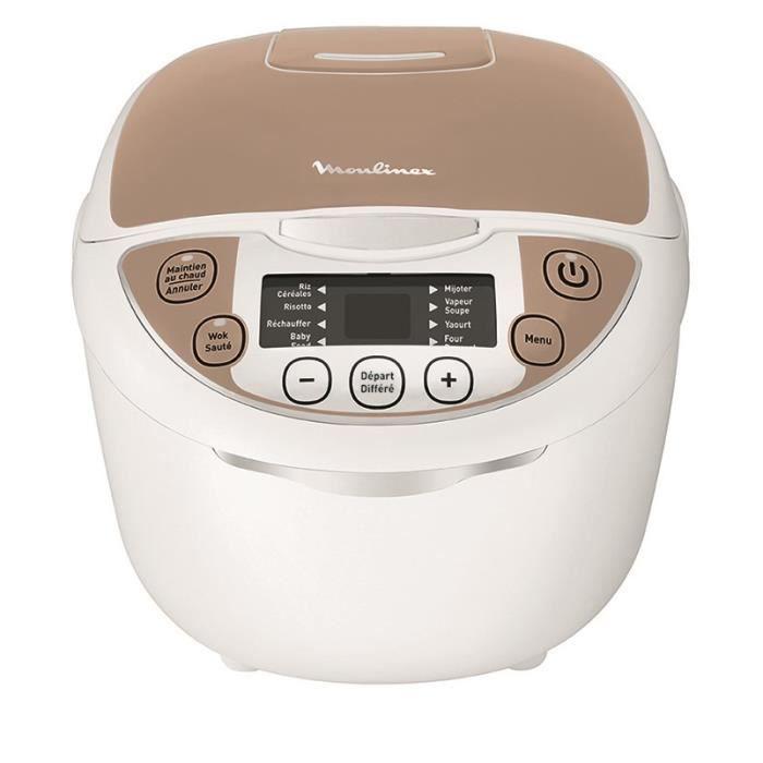 MOULINEX MK706A00 Multicuiseur électrique 12 en 1 - Blanc