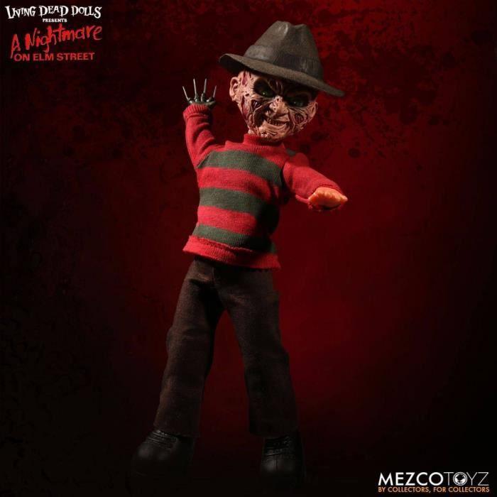FIGURINE - PERSONNAGE MEZCO TOYS - Freddy Les Griffes de la nuit - Poupé