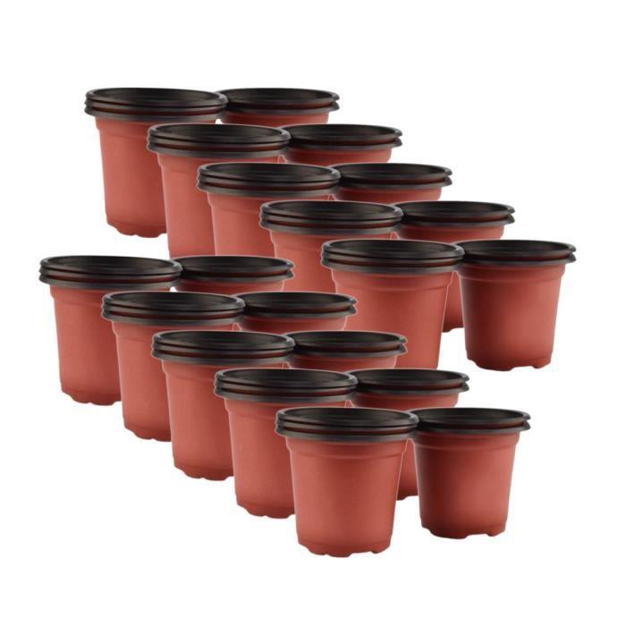 Pot de fleur semi en plastique - Achat / Vente pas cher