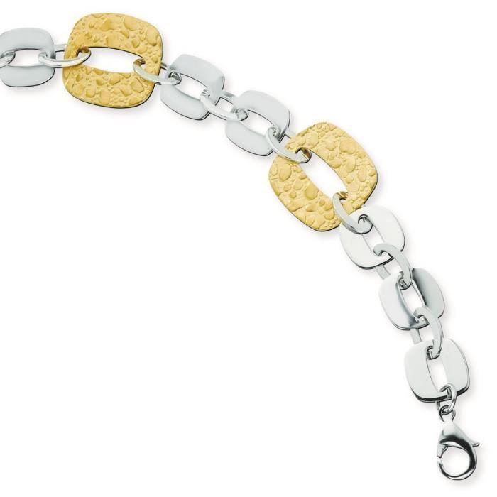 Acier inoxydable plaqué or IP Sqare Bracelet lien - 8 -