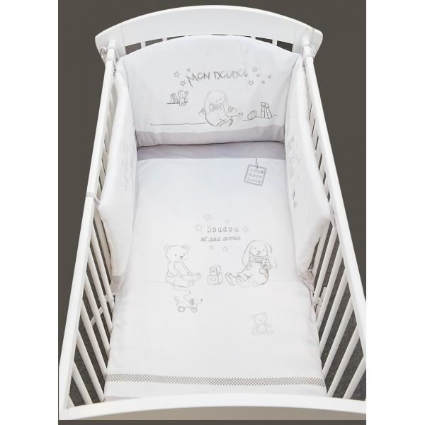 tour de lit mouton bébé Tour de lit Lapin chic LES CHATOUNETS   Achat / Vente tour de lit  tour de lit mouton bébé