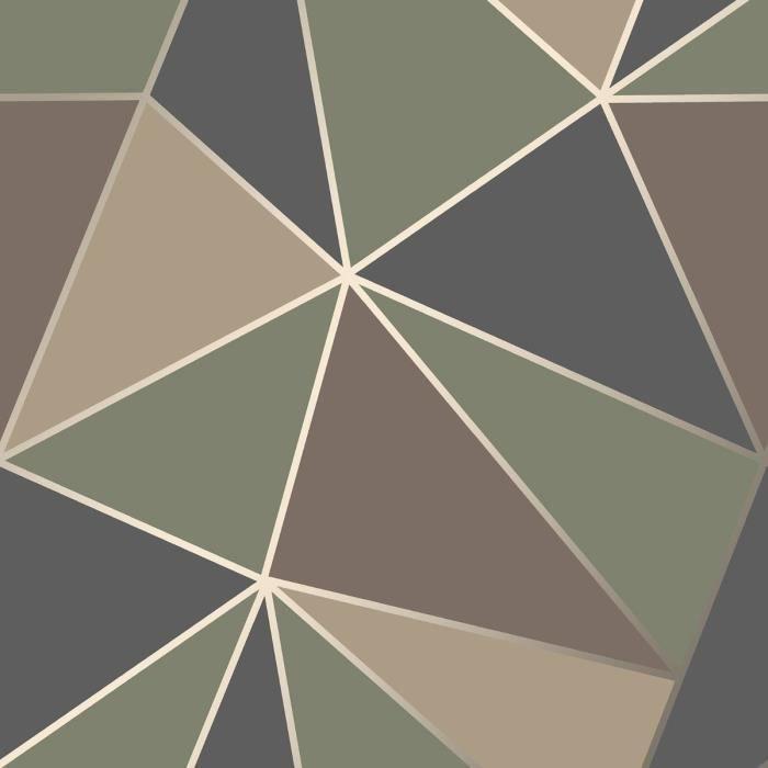 Apex Geometrique Papier Peint Camo Vert Fine Decor Fd42000 Achat