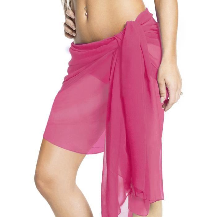 43353656a6 La Leelas femmes lisses léger mousseline maillot bain envelopper jupe robe  d'été jusqu'à une taille mini-sarong cms écharpe 183x53