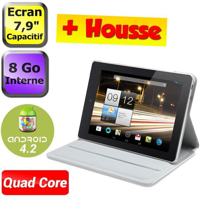 """TABLETTE TACTILE Acer Iconia A1-810 8"""" 8Go + Housse"""