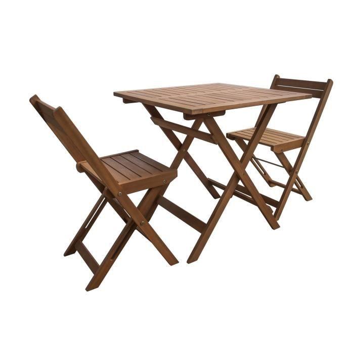 FINLANDEK - Table de jardin 2 places en eucalyptus - JAKAA - Achat ...