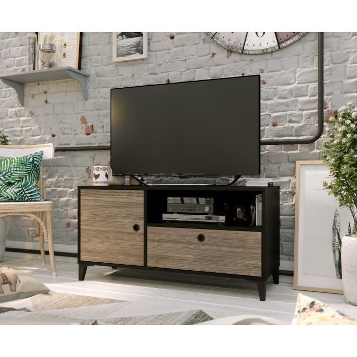 Effet Chene Blanc Mat Meuble Tv Banc Tv Selsey Fox 120 Cm