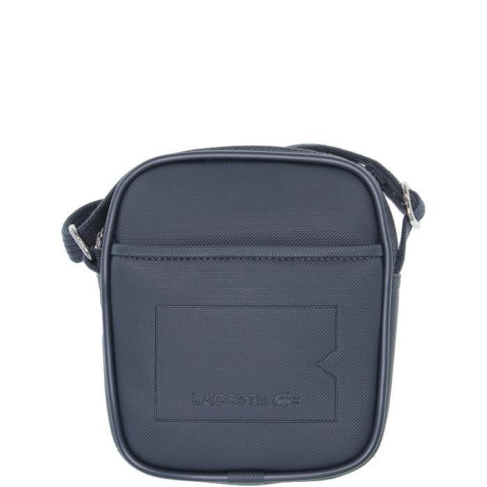 faa6ec090f Sacoche bandoulière Lacoste Vertical Caméra Bag xs ref_cem36548-035-bleu
