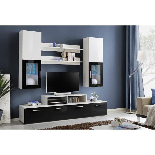meuble tv meuble tv design laqu vegas avec eclairage led - Meuble Tv Design Ibiza A Led