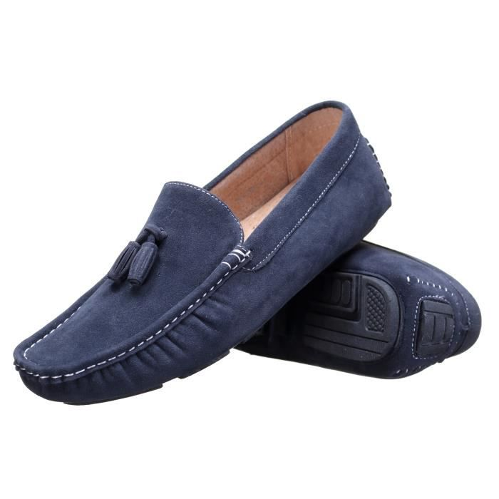 Chaussure Reservoir Shoes Walter Moccassin Marine