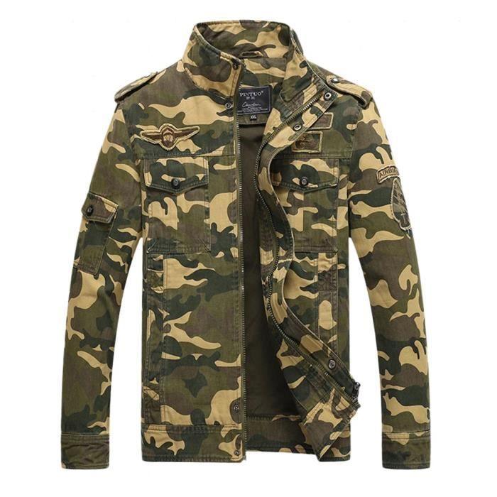 76c94d7003 De Achat Col Hommes Mode Kaki Deb Veste Camouflage Blouson X0nwkN8OP