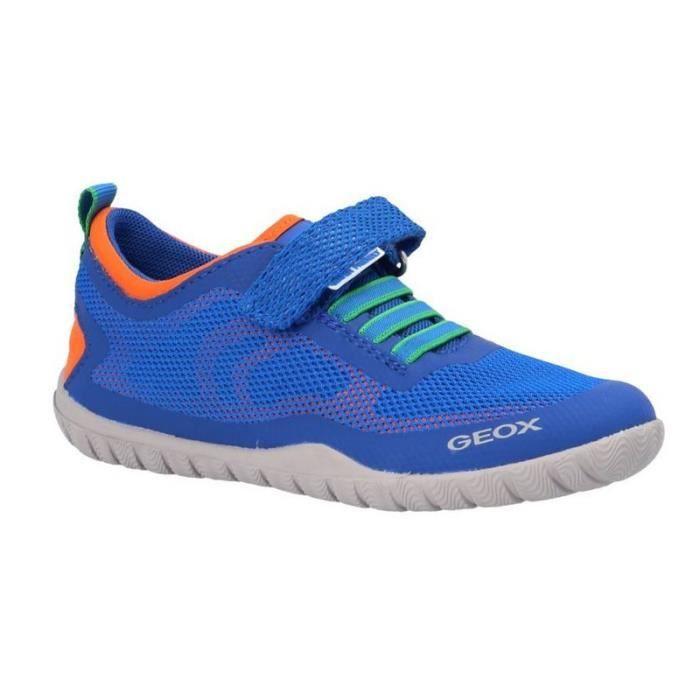 Géox Baskets Aquatique Garçon Bleu (34 - Fin - bleu)