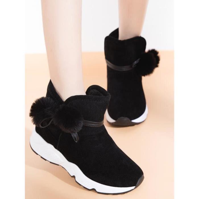 Plate-forme Bottes de neige des femmes chaud tout match Top Chaussures Mode 10194280