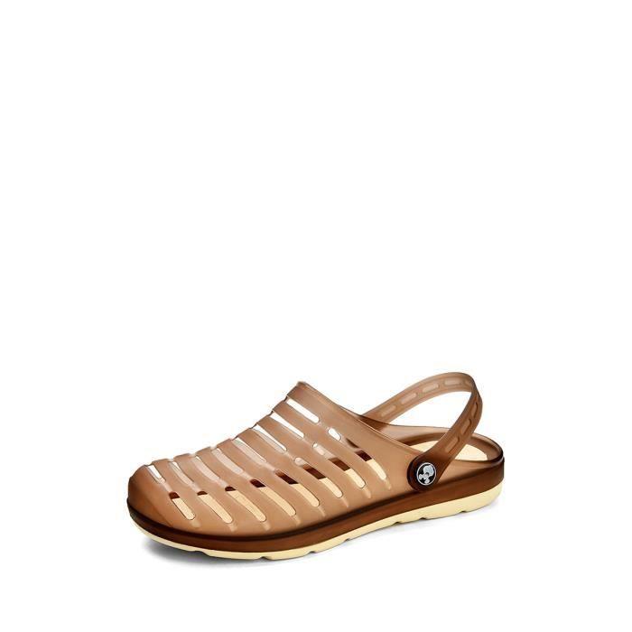 Sandales pour hommes Casual populaire creux flexible Chaussures en caoutchouc Out Respirant 3827282 Mjz98M9wF