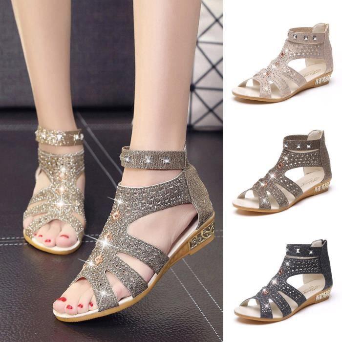 27a5d00b1ae40 Printemps été femmes sandales compensées mode poisson bouche creuse ...