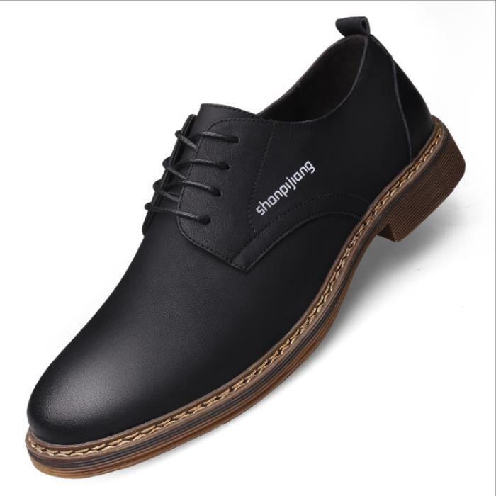 Chaussures Hommes Cuir Confortable mode Homme chaussure de ville BBDG-XZ194Noir39 bxoHZm0Z7V