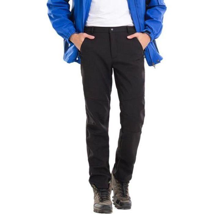 Vent Coupe Chaud Doublé Polaire Hiver Randonnée Imperméable Softshell Homme Pantalon wqRfP8x