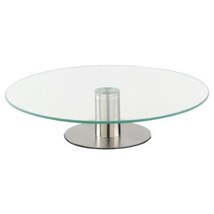 """PLAT DE SERVICE Plateau Tournant Verre """"glass"""" 30cm Transparent -"""