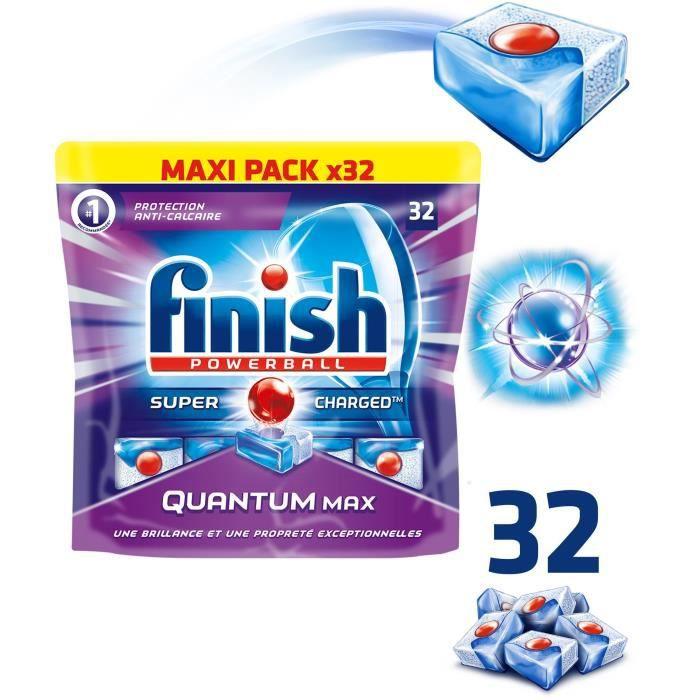 LIQUIDE LAVE-VAISSELLE FINISH NL1 Paquet de 32 tablettes pour lave-vaisse