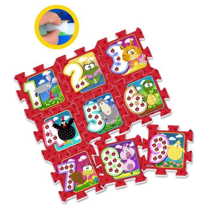 Stamp Tapis Puzzle Bebe En Mousse Chiffres Et Animaux Achat