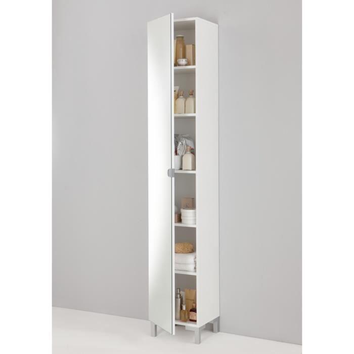 Tarragona colonne de salle de bain 34 cm 5 tages blanc for Colonne de salle de bain cdiscount