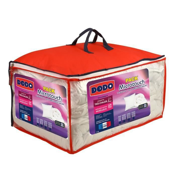 PACK LINGE DE LIT DODO Pack Microtouch - 1 couette 140x200 cm + 1 or